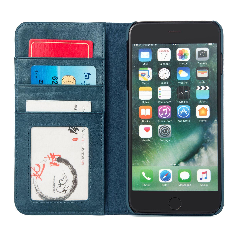 INONES 高級牛革 レトロ iPhone 7 Plus スマホ ケース スマホカバー 手帳型 本革 牛革 レザー