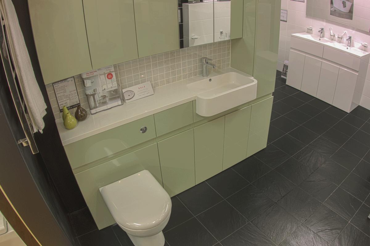 Attirant BRITTON Bathrooms   Aqua Cabinets. Sexy Arent They!