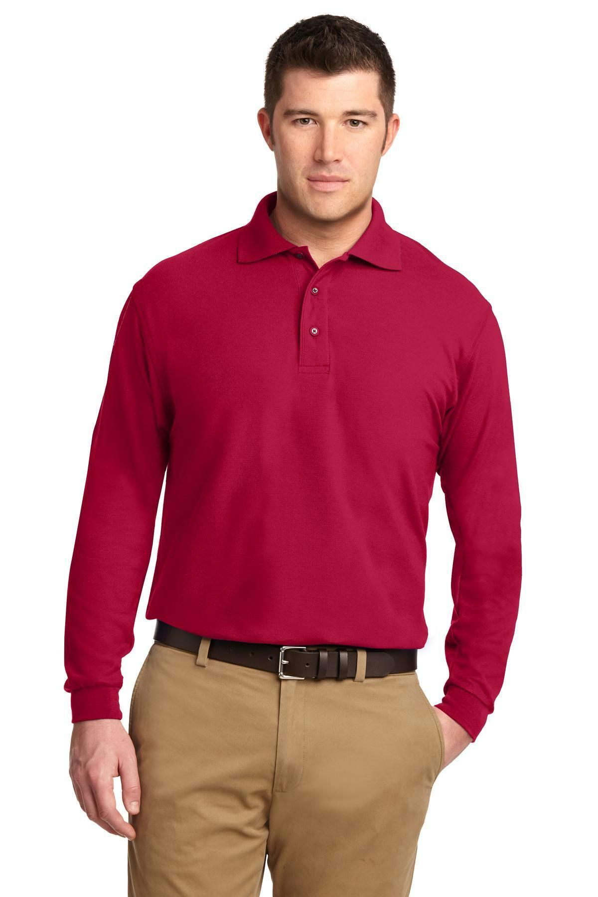 47d657ffb Port Authority Silk Touch Long Sleeve Polo. K500LS