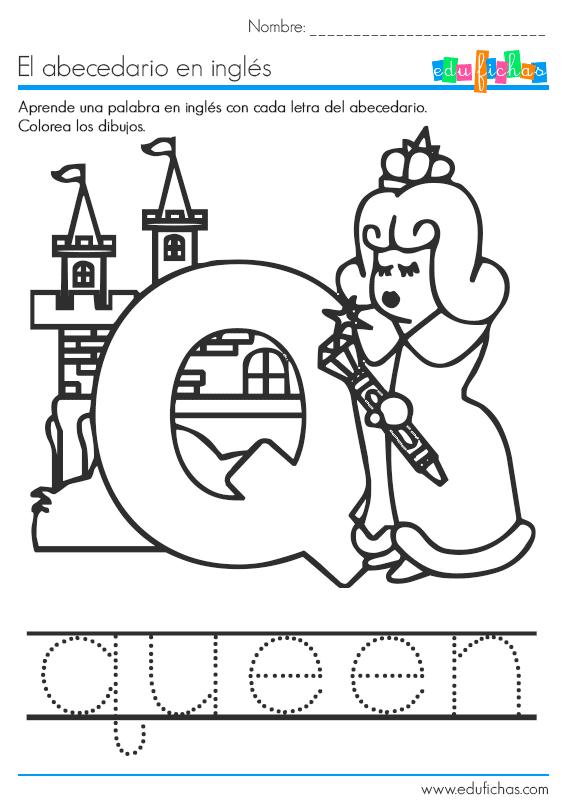 Descarga Nuestro Cuadernillo Del Abecedario En Ingles En Pdf Gratis Con Una Palabra De Vocabulario Por Cada U Abecedario Ingles Abecedario Alfabeto Preescolar