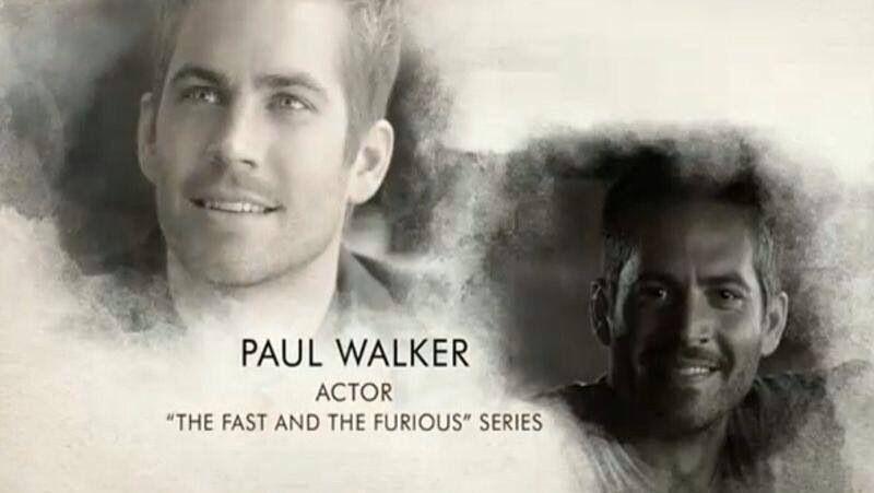 Oscars 2014 In Loving Memory Tribute Paul Walker