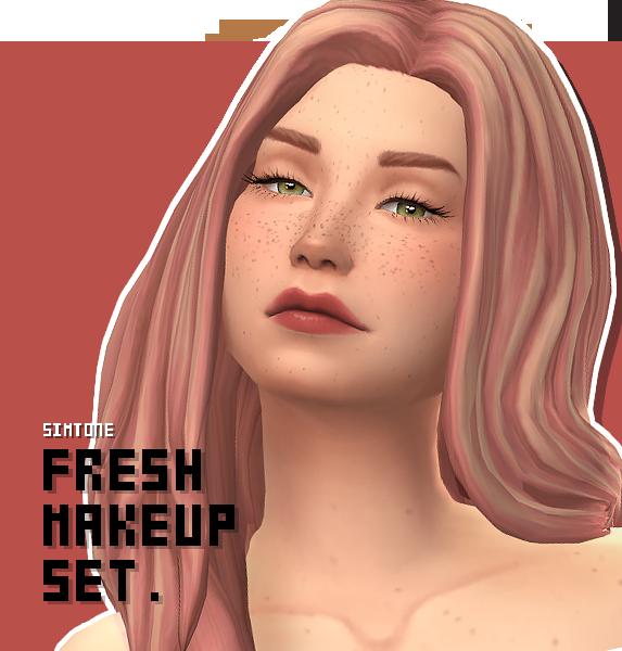 FRESH MAKEUP SET _ Freckles + Blush + Lipstick By Simtone