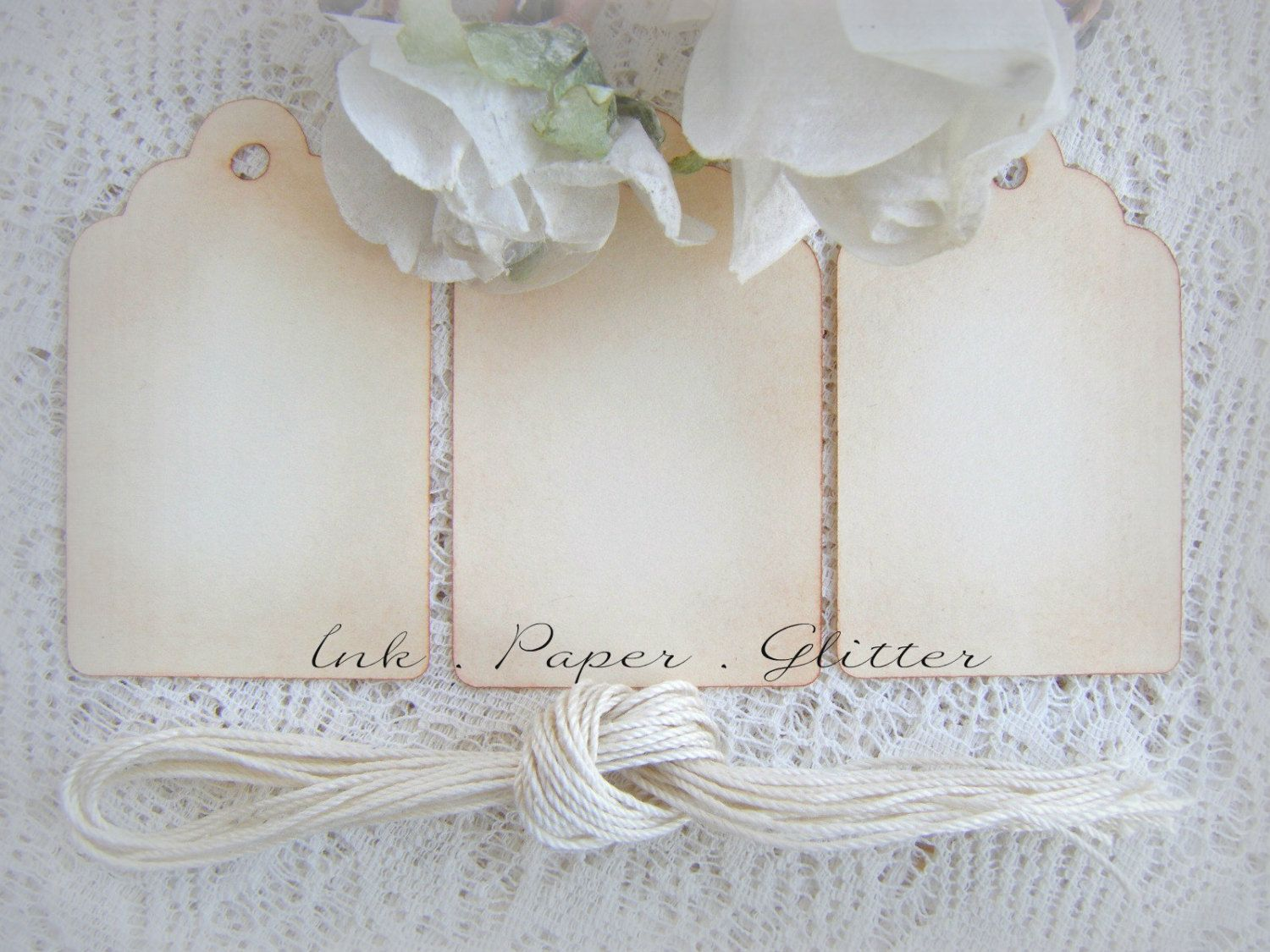 Wedding Favor DIY Vintage Look - Wish Tree - Place Cards - Escort ...