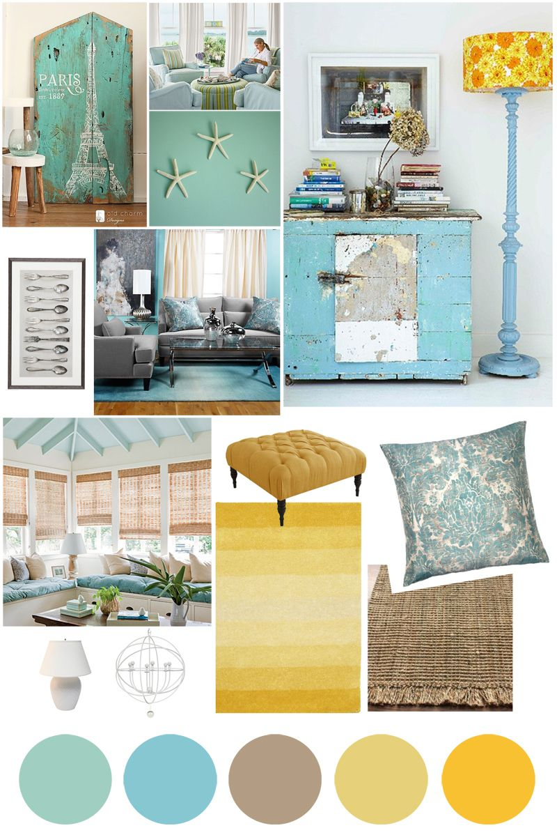 color palette inspo: classy beachy blues. Mood Board InteriorInterior Design  ...