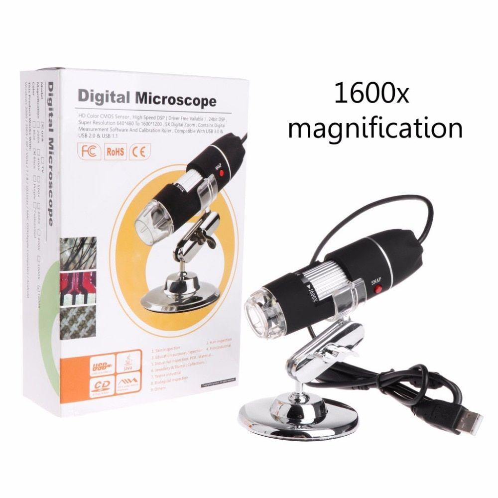 PUEEPDEE Handheld Microscope Digital USB Microscope Magnification Zoom Handheld Endoscope Inspection Camera Video Recorder Handheld Microscope for Kids Color : Black, Size : Free Size