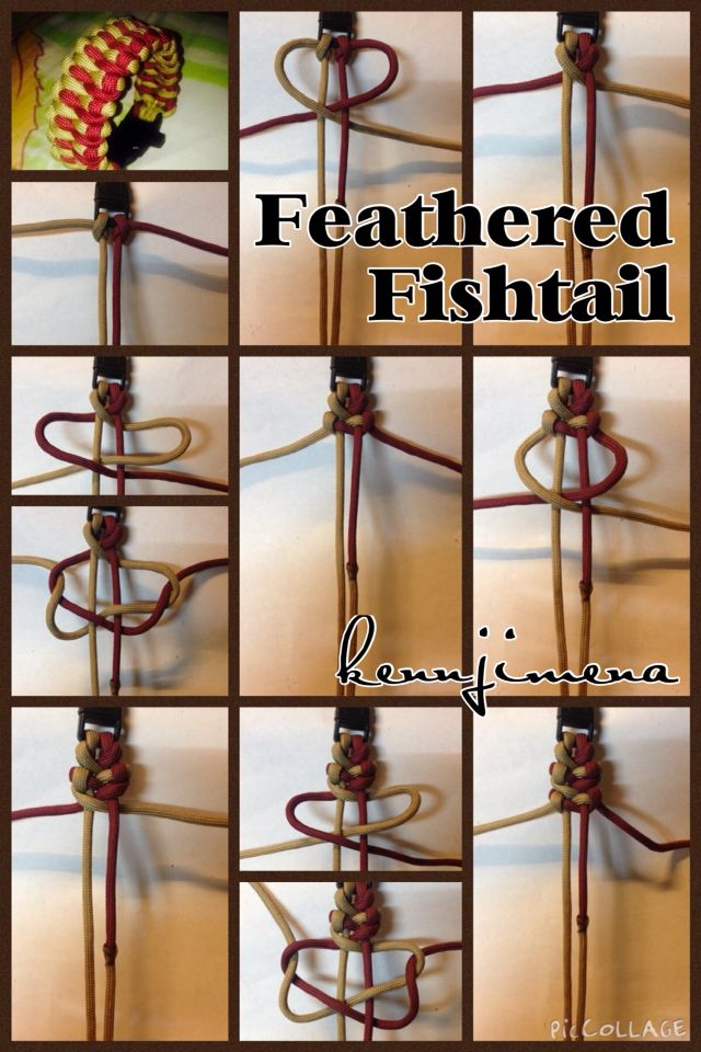 Feathered Fishtail Paracord Bracelet Tutorial With Images