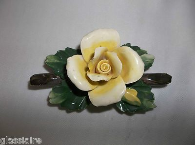Yellow Rose By Capodimonte Italy