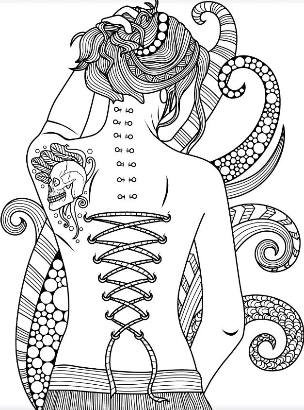 dark gothic  colorish free coloring app for adults