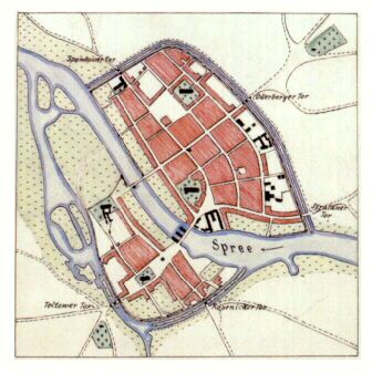 Berlin Coeln Um 1400 Als Residenzstadt Berlin Karte Berlin Geschichte Berlin