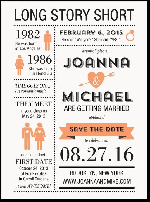 Heres the original idea for our Save the Date from www