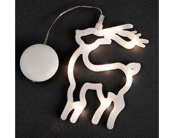 Dekoracyjna figurka okienna LED Renifer 20cm
