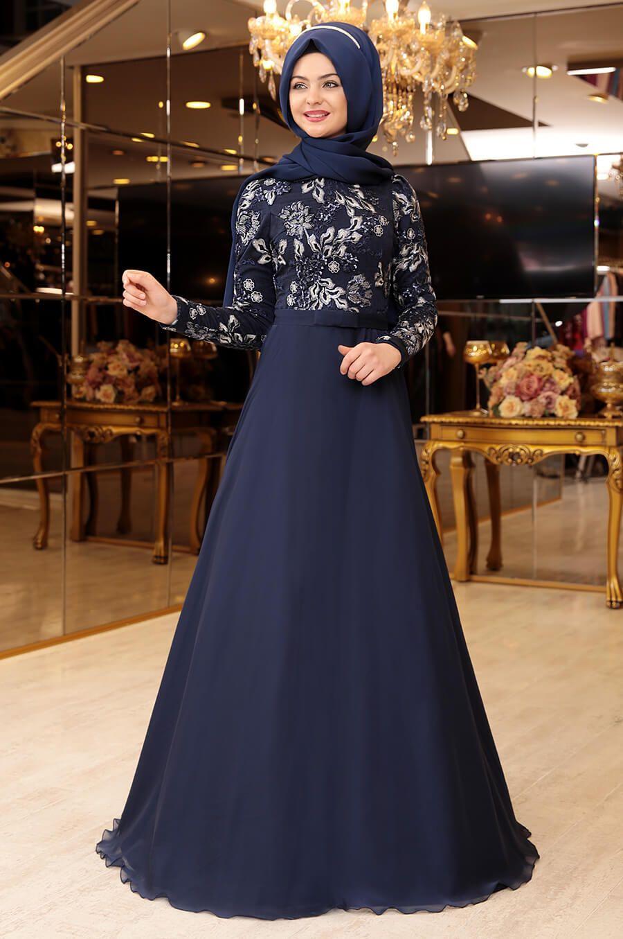 Pinar Sems Lacivert Abiye Modelleri Giyim Moda Stilleri Elbise Modelleri