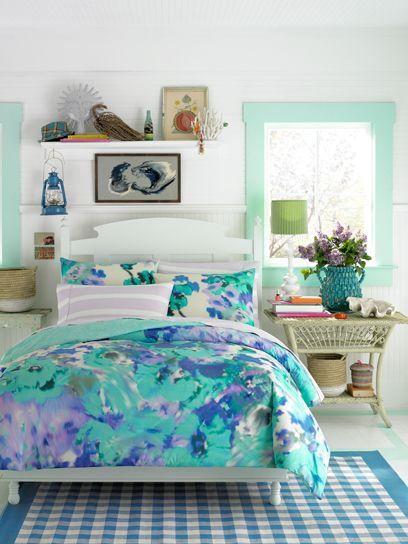 Teen Vogue Bedding Watercolor Garden Bedding Set