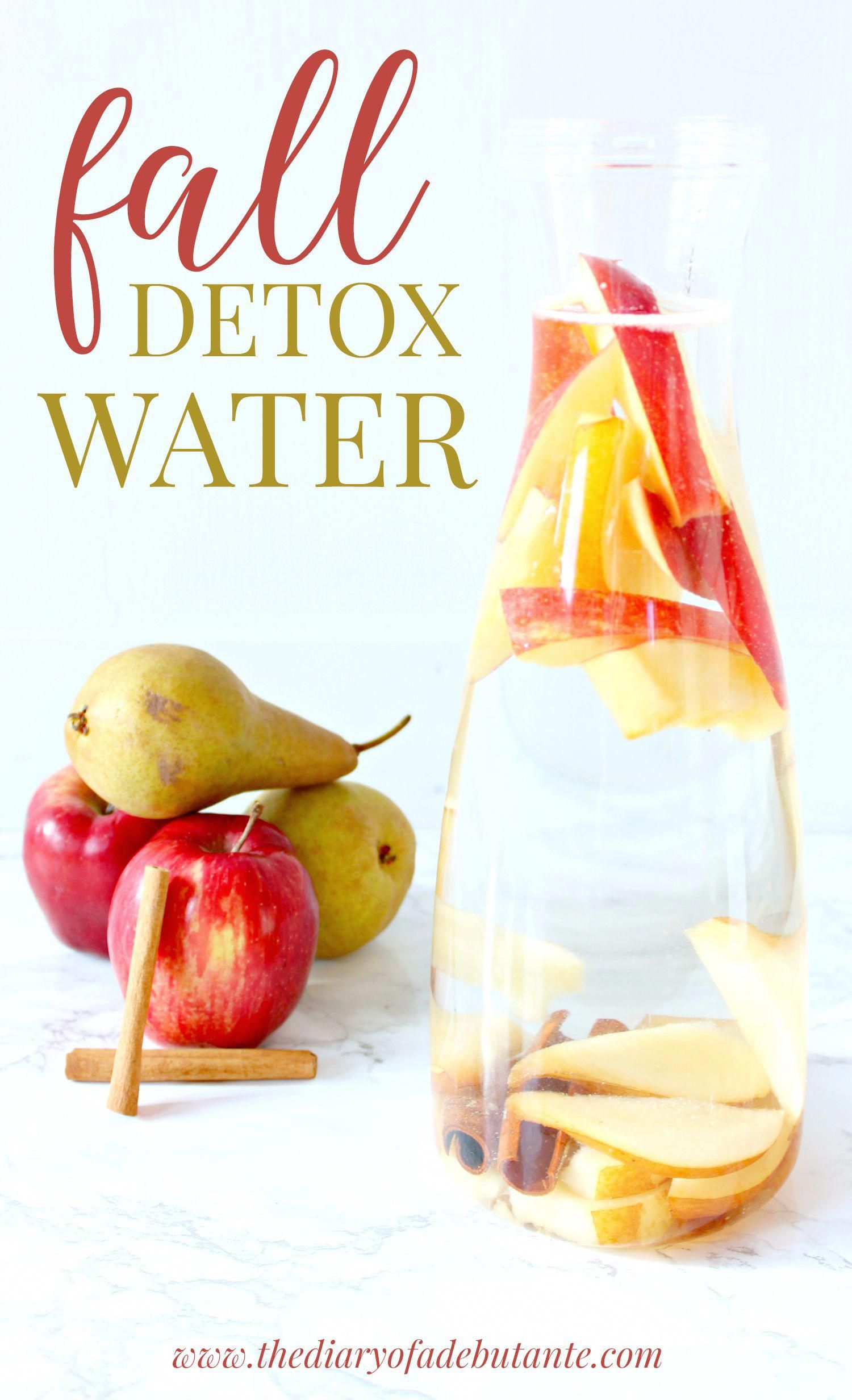 Cinnamon Apple Pear Fall Detox Water Recipe #sugardetoxplan