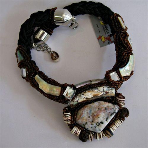 Jasper and bead choker/necklace