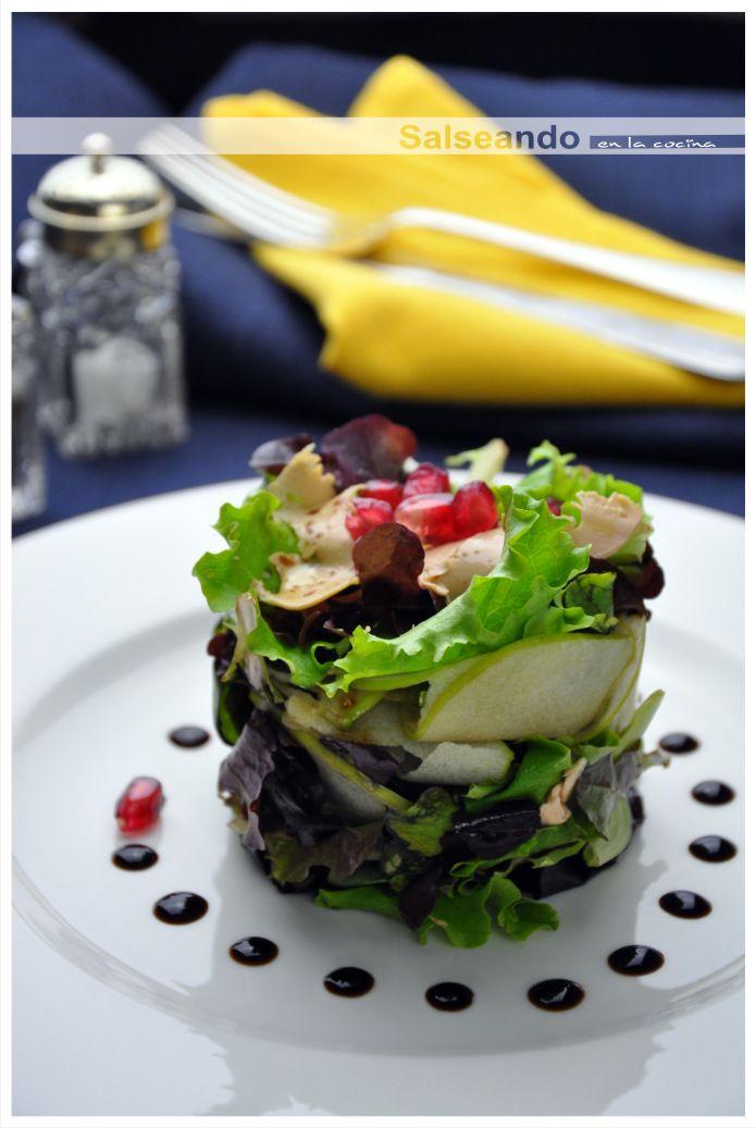 Salseando en la cocina Ensalada de frutas y foie de