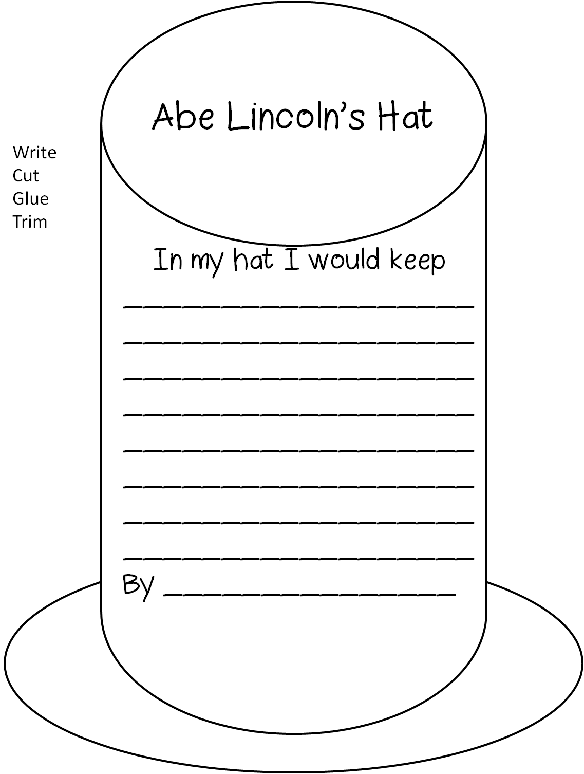 Lincoln Worksheet Kindergarten