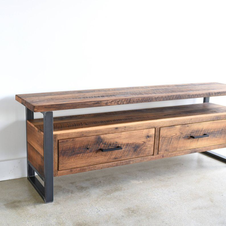Industrial Tv Stand Made From Reclaimed Wood Modern