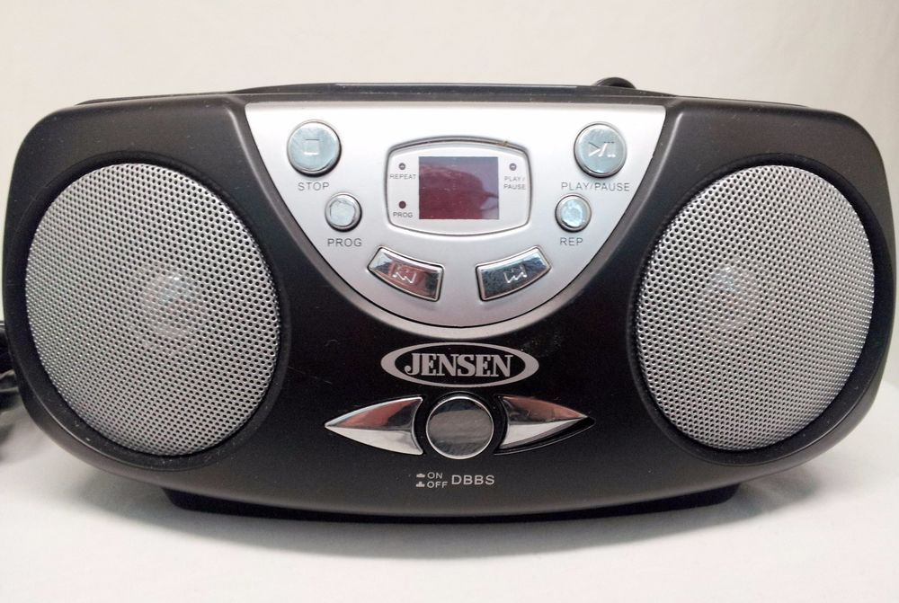 Jensen Portable CD 472 AM/FM Stereo CD Player Portable Boombox Radio With  Cord