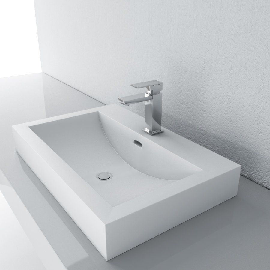 Cantrio Koncepts Mma 2516 Solid Surface Countertop Sink Lowe S Canada Semi Recessed Sink Sink Sink Countertop