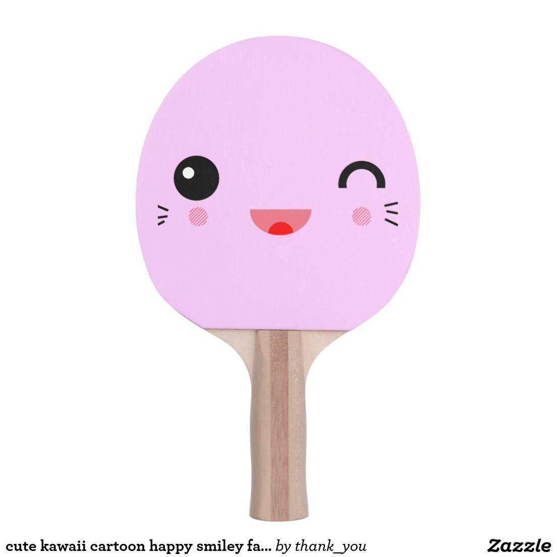Cute Cartoon Happy Face Ping Pong Paddle Zazzle Com Happy Smiley Face Ping Pong Paddles Gadget Gifts
