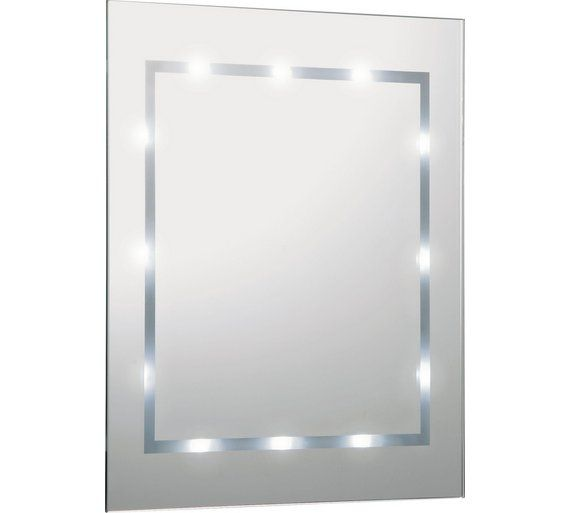 Buy Home Rectangular Illuminated Bathroom Mirror White Gloss At Argos Co Uk Visit Argos Co Uk To Shop Onli Bathroom Mirror Bathroom Mirror Lights Argos Home