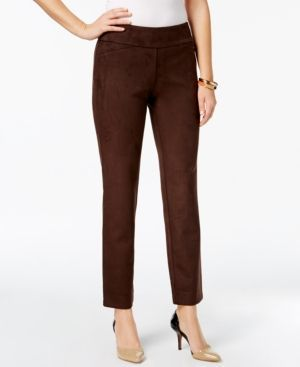 0fe262006ec Charter Club Petite Cambridge Faux-Suede Pants