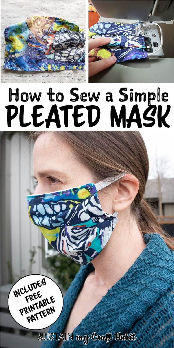 Photo of How to Sew a Simple Pleated Face Mask!