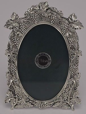 Antique Pewter Frame with Sterling Silver Baby Baptism Image