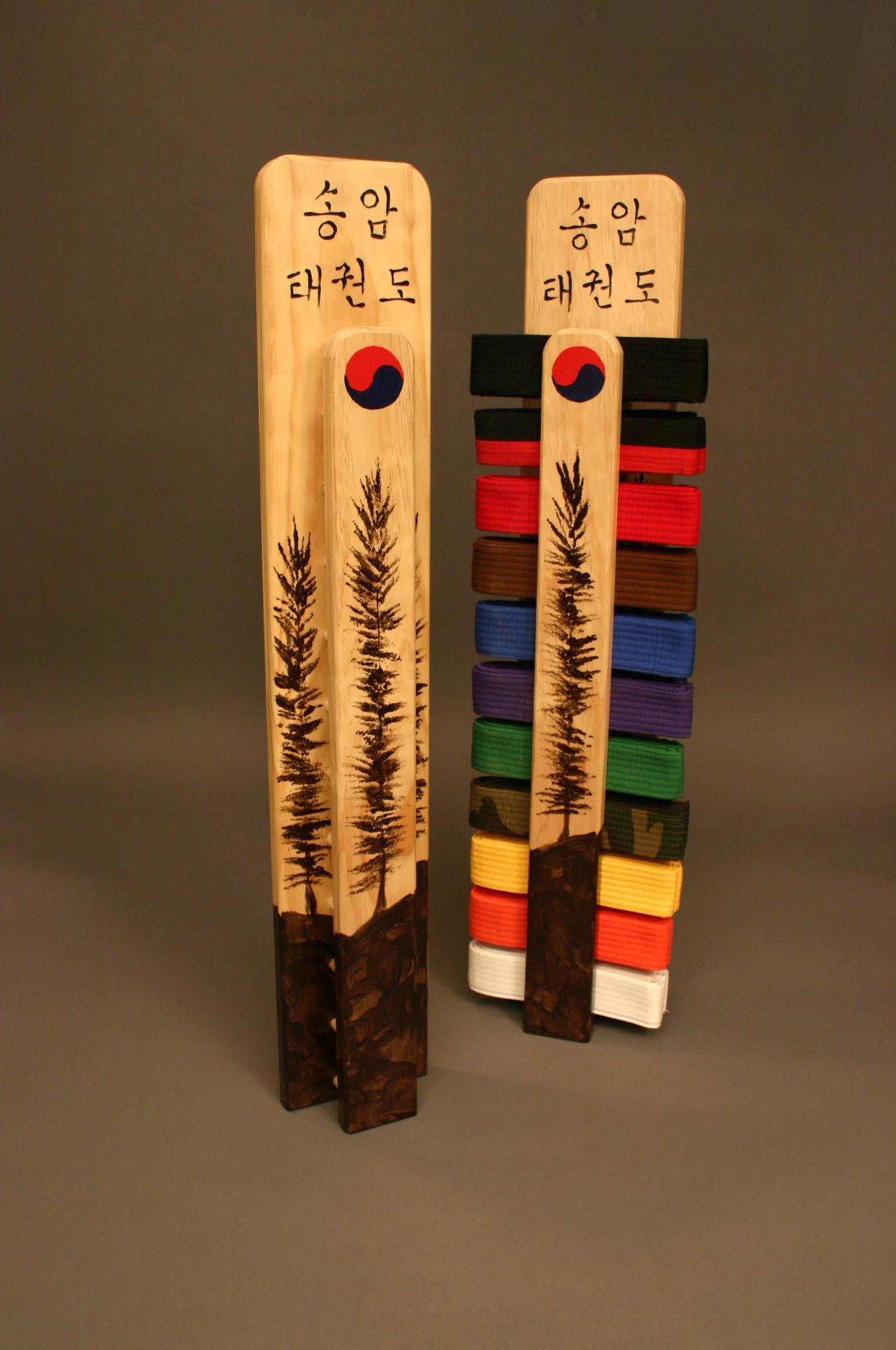 Karate belt display ideas - Songahm Taekwondo Pine Tree Belt Rack Display Jeja