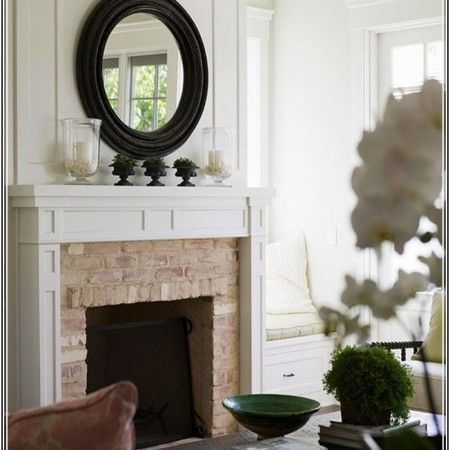 round-mirror-over-fireplace-450x450.jpg (450×450) | Family Room ...