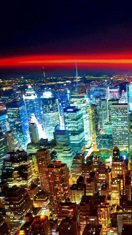 Night City Lights Red Horizon Iphone Wallpaper City Iphone Wallpaper City Lights Wallpaper City Lights At Night Iphone night city lights wallpaper hd