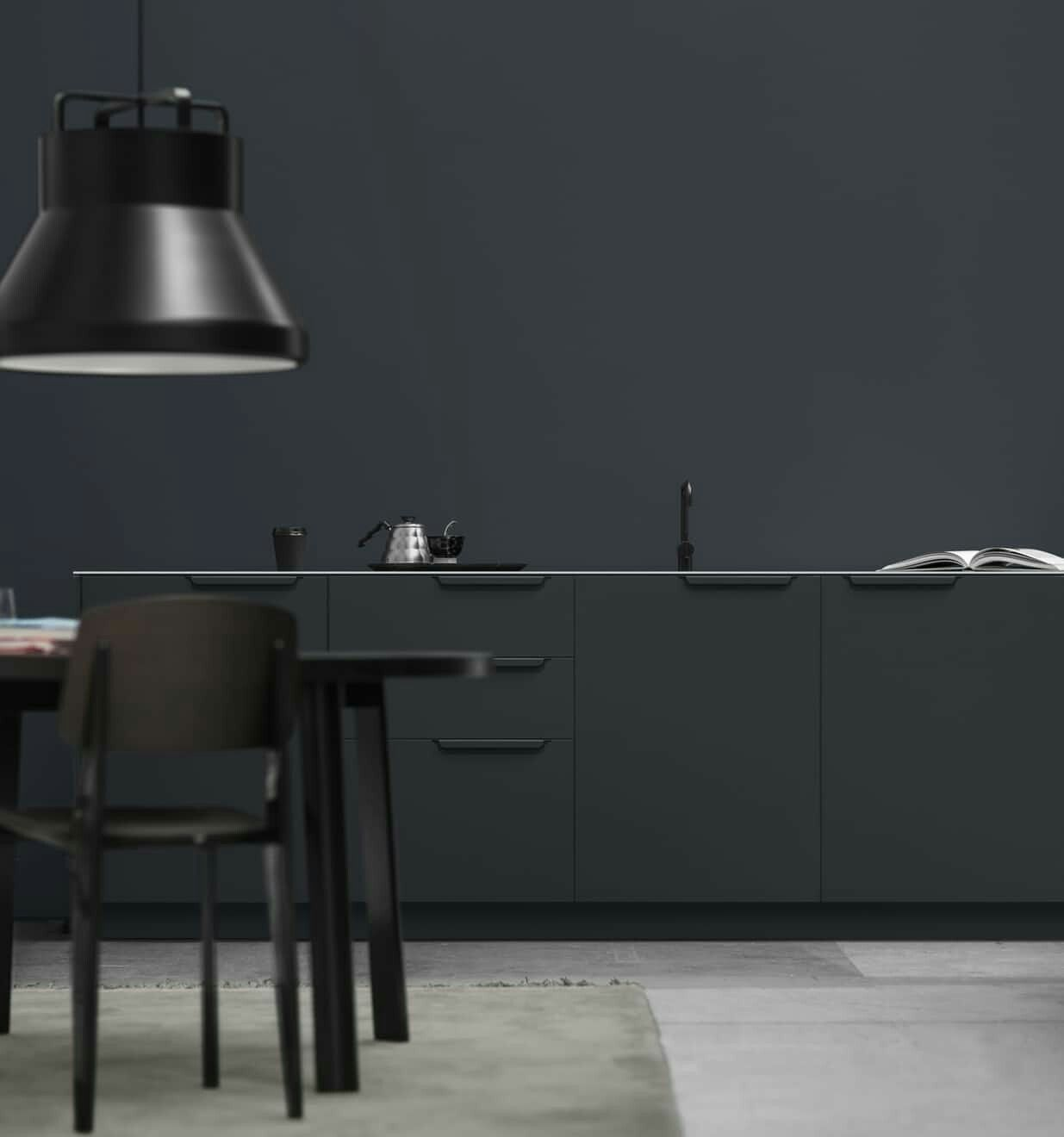 Pin By Dessine Moi Une Cuisine Votr On Ideoita Kotiin Black Kitchens Kitchen Table Makeover Ikea Kitchen Design