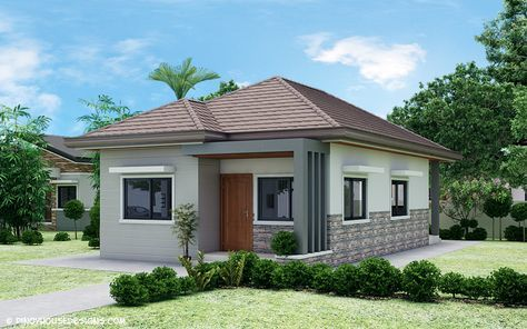 Ruben Model Is A Simple 3 Bedroom Bungalow House Design With Total Floor Area Of 8 Philippines House Design Simple Bungalow House Designs Bungalow House Design