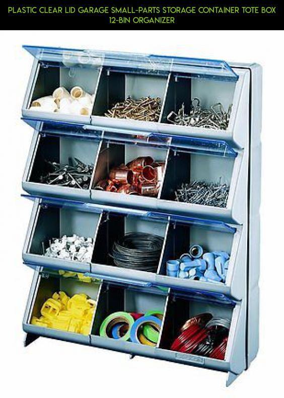 Plastic Clear Lid Garage Small Parts Storage Container Tote Box 12 Bin  Organizer #