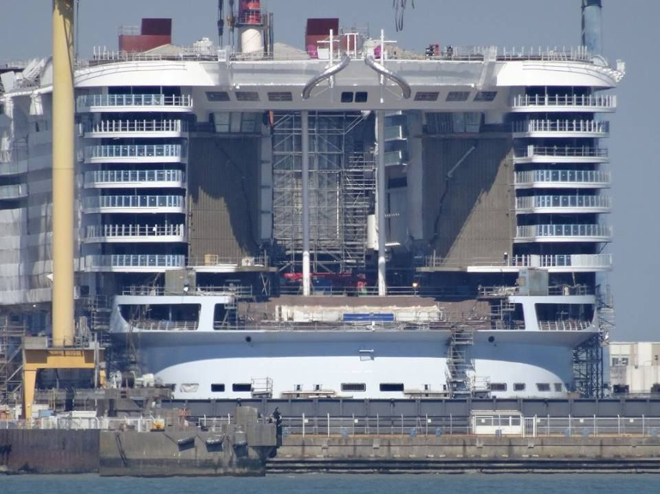 April Symphony Of The Seas Aft Taking Shape Cruise - What is aft on a cruise ship