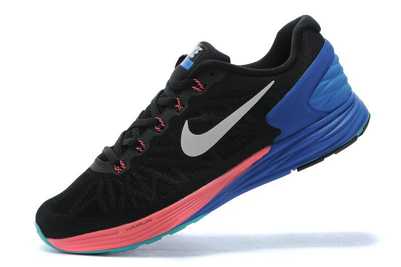 reputable site 12e82 c6b94 Authentic New Arrival 2018-2019 Nike LunarGlide 6 Black Sport Turquoise  Hyper Royal Punch