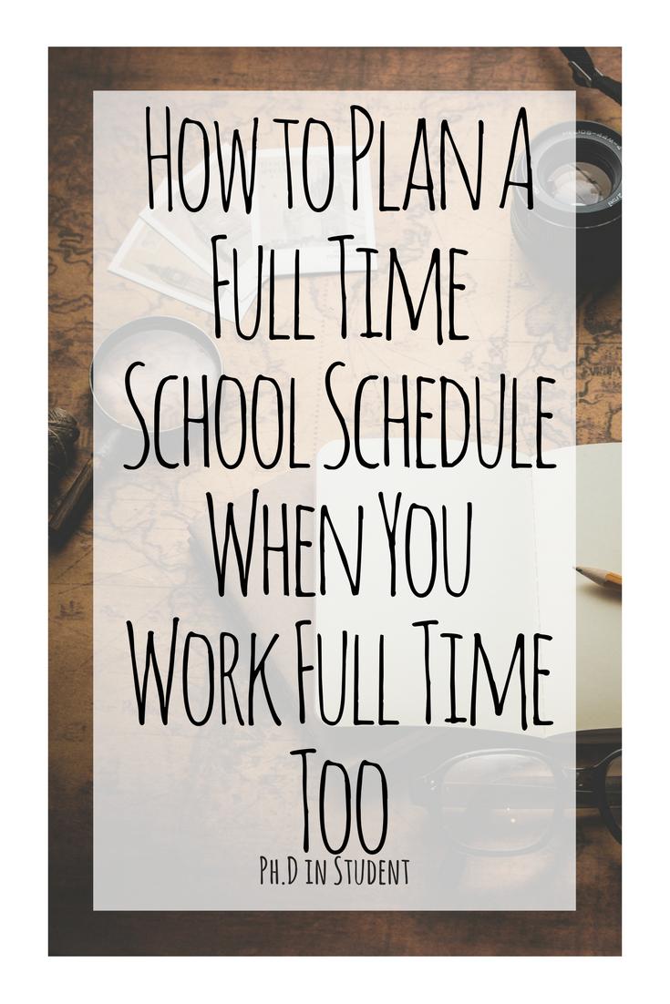 plan college schedule