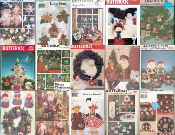 OOP Butterick Sewing Pattern Christmas Decorations Xmas Holiday ...