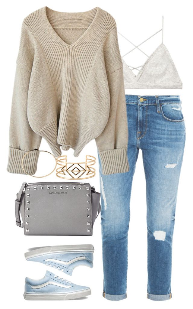 """Untitled #131"" by jasmine-shum ❤ liked on Polyvore featuring Frame Denim, Victoria's Secret, MICHAEL Michael Kors, Vans, Stella & Dot, Maison Margiela, women's clothing, women, female and woman"
