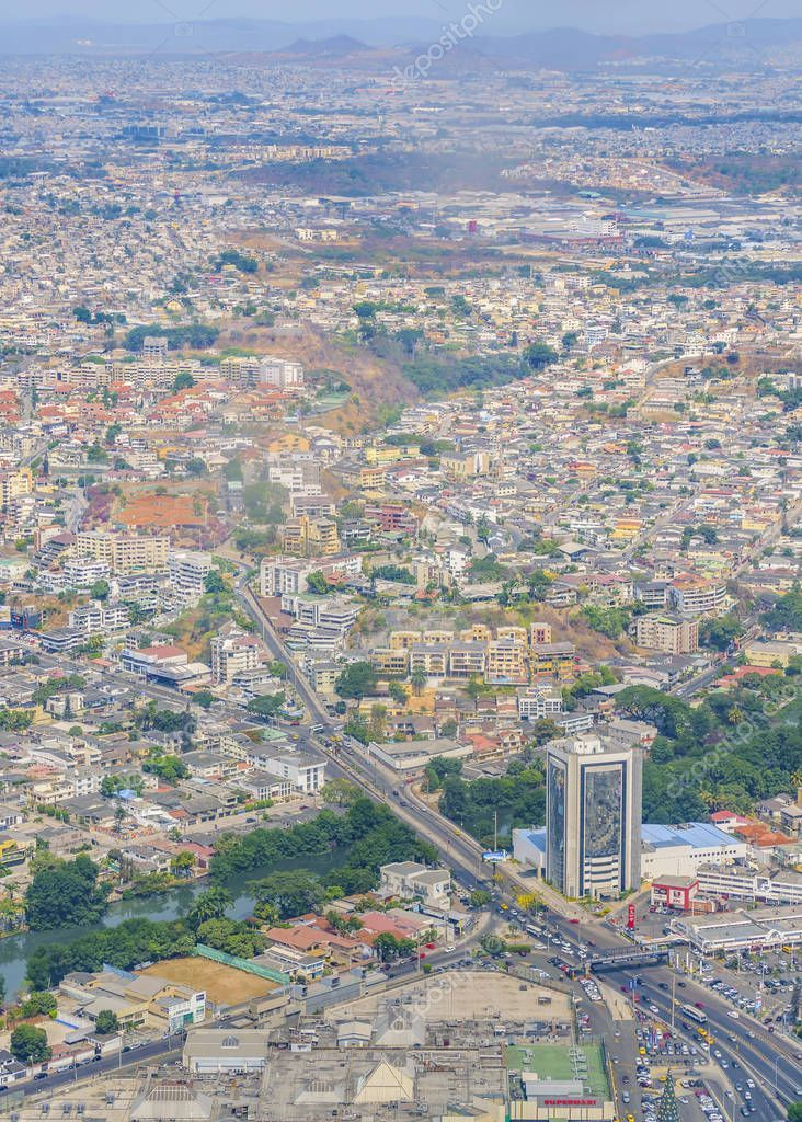 Aerial View Guayaquil City Window Plane - Stock Photo , #spon, #Guayaquil, #City, #Aerial, #View #AD