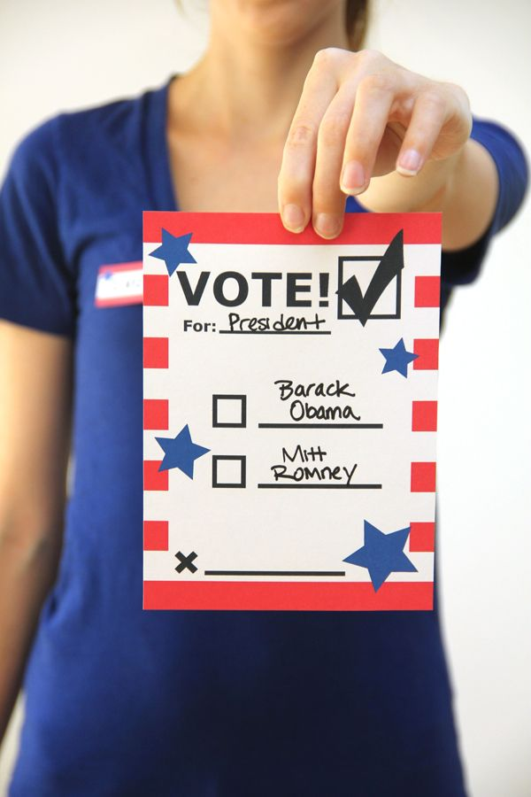 Free DIY Printable Voting Ballots for Kids   Election ...