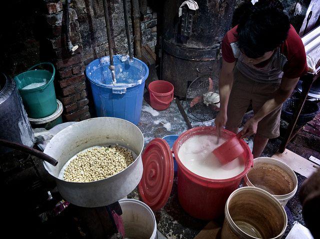 inside a tofu manufacturing den   Flickr - Photo Sharing!