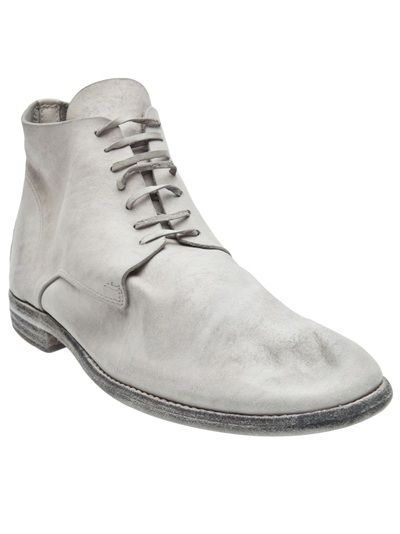 6ca94a283ff Lace-up shoe in grey from Guidi. This leather shoe features a round ...