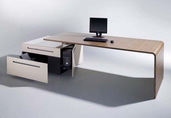 15 Gorgeous Desk Designs For Any Office Office Desk Designs Desk Design Cool Office Desk