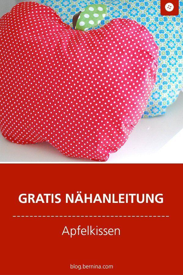 Apple Cushion »Blog BERNINA - Nähen nach Material - ähen