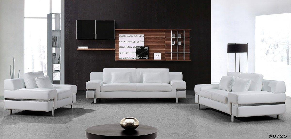 white sofa set living room light grey paint ideas clef modern leather sofas