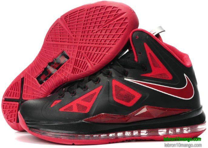 Lbj 10 Black Red Bred Lebron 10 Sneakers 2013 63 48 Lebron James Shoes Lebron Shoes Nike Lebron