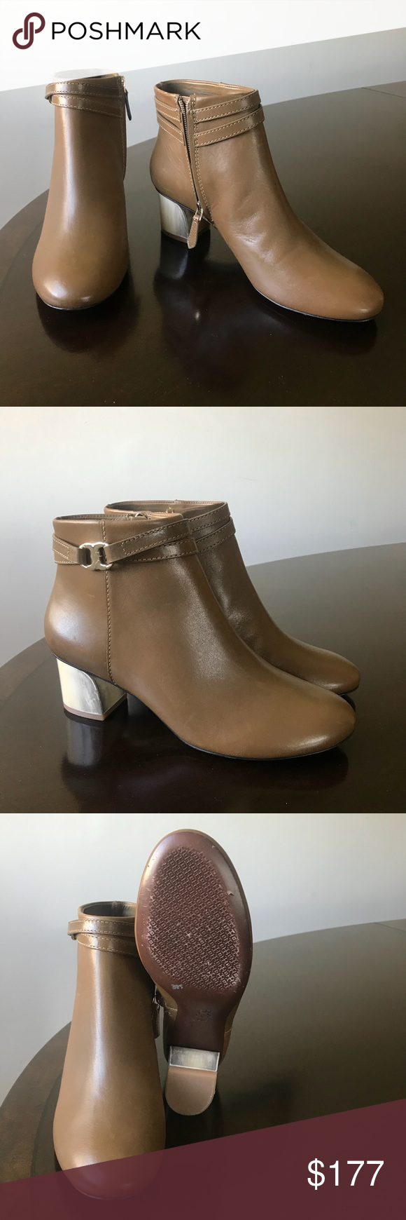 e5fdda797 Tory Burch olive green 8M Round Toe Ankle hi Boots - Tory Burch Genuine  olive green leather women s size 8M Round Toe Ankle ( above Ankle) dress  boots.