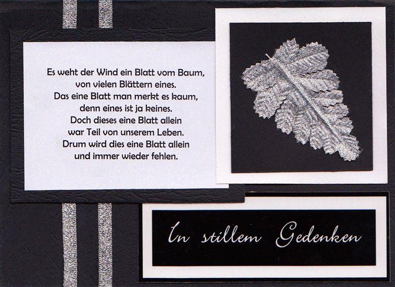 Beileidswunsche Fur Karten: Trauerkarte Mit Text Und Gedicht